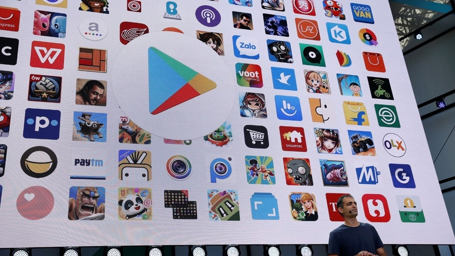 File photo: Sameer Samat, vice president of product management, Android and Google Play, speaks on stage during the annual Google I/O developers conference in San Jose, California, U.S., May 17, 2017. (REUTERS/Stephen Lam)