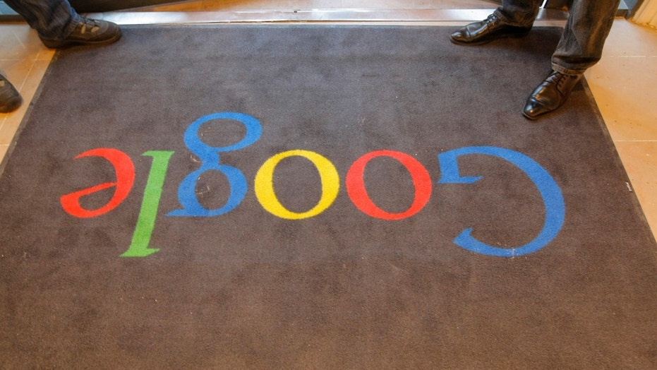 File photo - A Google carpet is seen at the entrance of the new headquarters of Google France before its official inauguration in Paris, France Dec. 6, 2011. (REUTERS/Jacques Brinon/Pool/File Photo)