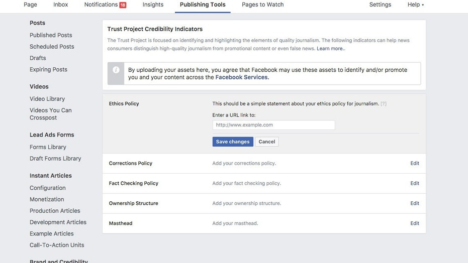 Facebook adds 'trust indicators' to news articles to offer publisher info