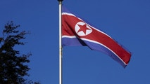A North Korean flag flies on a mast at the Permanent Mission of North Korea in Geneva October 2, 2014.   REUTERS/Denis Balibouse/File Photo     TPX IMAGES OF THE DAY  - RTSH17F