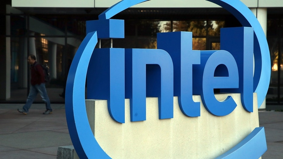 File photo: SANTA CLARA, CA - JANUARY 16: The Intel logo is displayed outside of the Intel headquarters on January 16, 2014 in Santa Clara, California.  (Photo by Justin Sullivan/Getty Images)