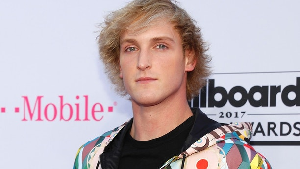 Logan Paul arrives at the 2017 Billboard Music Awards in Las Vegas, Nevada.
