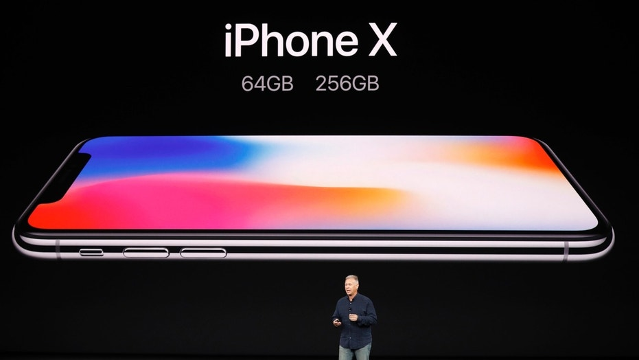 Apple Senior Vice President of Worldwide Marketing, Phil Schiller, introduces the iPhone X during a launch event in Cupertino, California, on Sept. 12, 2017.