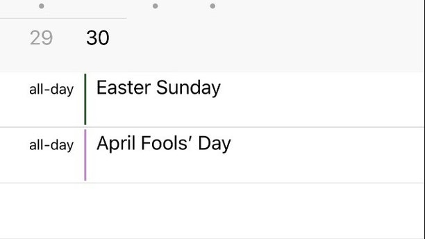 1518793514543 - Apple's iCal calendar mysteriously deletes Easter