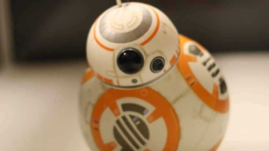 "The ""Star Wars"" droid BB-8 (or at least its remote-control alter ego) is trapped in a sand-like substance during a lab experiment at Georgia Tech."