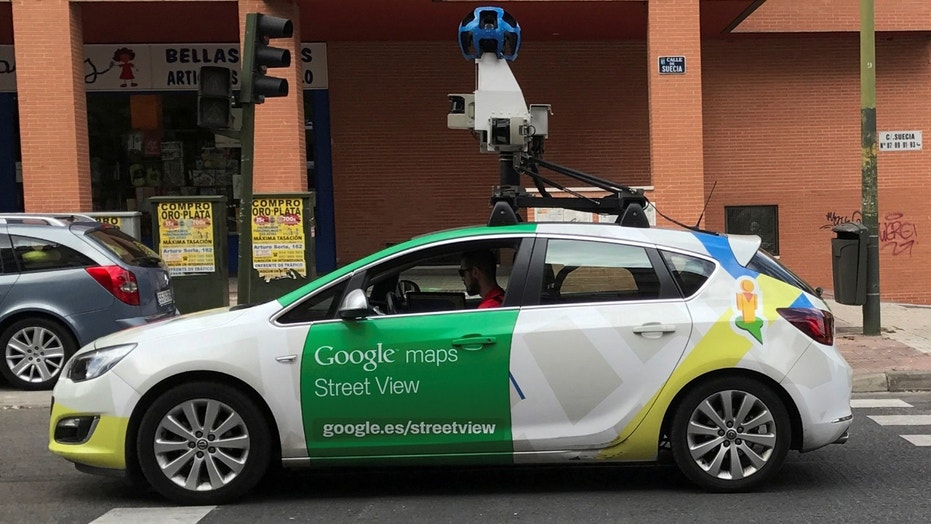 File photo: A Google Street View car is seen in a street in Madrid, Spain, May 29, 2017. (REUTERS/Sergio Perez)