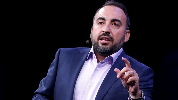 FILE PHOTO - Facebook Chief Security Officer Alex Stamos gives a keynote address during the Black Hat information security conference in Las Vegas, Nevada, U.S. July 26, 2017. REUTERS/Steve Marcus/File Photo - RC1B0D682220