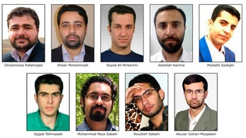 This image released by the FBI is the wanted posted for 9 Iranians that took part in a government-sponsored hacking scheme that pilfered sensitive information from hundreds of universities, private companies and government agencies. (FBI via AP)