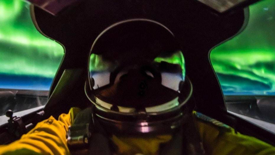 U.S. Air Force pilot Ross Franquemont captured the images of the Northern Lights 70,000 feet over Canada.