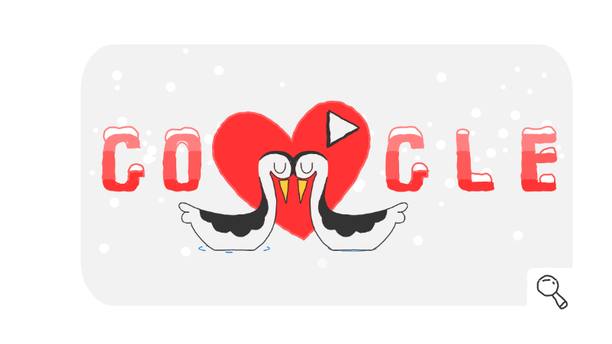 Google celebrates many special occasions with a doodle such as Valentine's Day