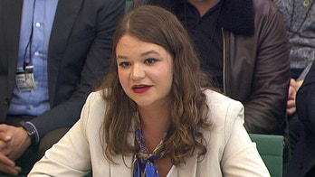 Brittany Kaiser, former Director of Program Development at Cambridge Analytica, speaks to Parliament's Digital, Culture Media and Sports committee in Westminster, London, Britain April 17, 2018. Parliament TV handout via REUTERS NOT FOR SALE FOR MARKETING OR ADVERTISING CAMPAIGNS  THIS IMAGE HAS BEEN SUPPLIED BY A THIRD PARTY. - RC1FEF6F0D10