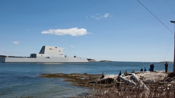 The future guided-missile destroyer USS Zumwalt (DDG 1000) departs Bath, Maine to conduct acceptance trials April 20, 2016.   REUTERS/US Navy/Handout via Reuters  THIS IMAGE HAS BEEN SUPPLIED BY A THIRD PARTY. IT IS DISTRIBUTED, EXACTLY AS RECEIVED BY REUTERS, AS A SERVICE TO CLIENTS. FOR EDITORIAL USE ONLY. NOT FOR SALE FOR MARKETING OR ADVERTISING CAMPAIGNS - TM3EC5F1Q8801