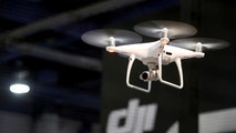 A DJI Phantom 4 Pro+ drone is shown during the 2017 CES in Las Vegas, Nevada, U.S., January 6, 2017. The Plus version adds a screen on the remote that won't wash out in daylight. REUTERS/Steve Marcus - RC18B6610E00