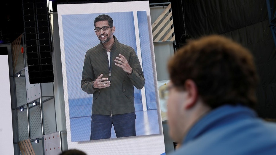 Google CEO Sundar Pichai speaks on stage during the annual Google I/O developers conference in Mountain View, California, May 8, 2018. REUTERS/ Stephen Lam