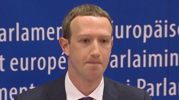 Facebook's CEO Mark Zuckerberg answers questions about the improper use of millions of users' data by a political consultancy, at the European Parliament in Brussels, Belgium, in this still image taken from Reuters TV May 22, 2018. REUTERS/ReutersTV - RC1B2AD97050