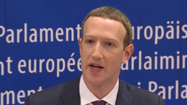 Facebook's CEO Mark Zuckerberg answers questions about the improper use of millions of users' data by a political consultancy, at the European Parliament in Brussels, Belgium, in this still image taken from Reuters TV May 22, 2018. REUTERS/ReutersTV - RC1F2CD7BE60