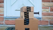 Hagerstown, MD, USA - June 2, 2014: Image of an Amazon packages. Amazon is an online company and is the largest retailer in the world.