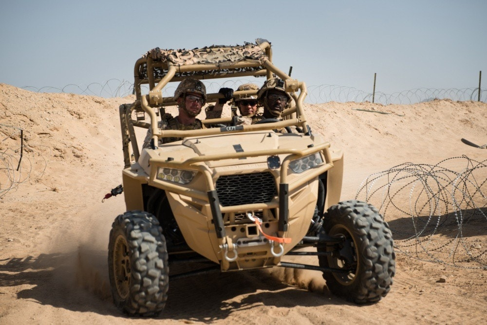 Drone slayer: Polaris MRZR ATVs, Chevy trucks, armed with new anti-drone weapon