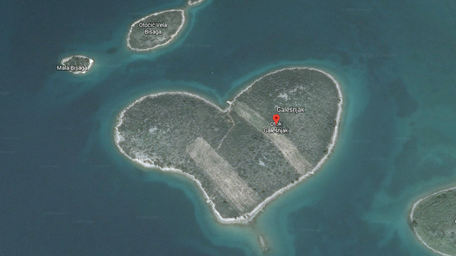 a heart shaped island off the coast of croatia is now capturing attention from google