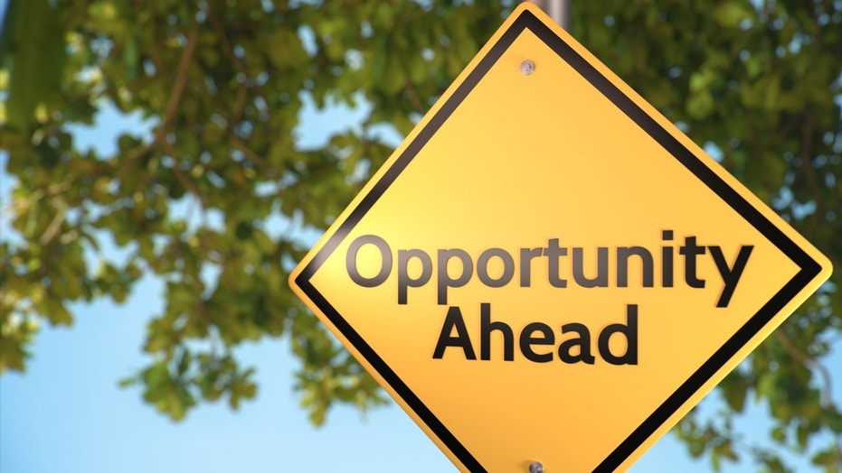 Road sign theme concepts - Opportunities. (This content is subject to copyright.) (Credit: iStock)
