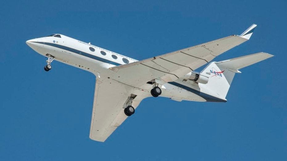 The ARM flights were flown on NASA's SubsoniC Research Aircraft Testbed G-III aircraft, or SCRAT, at NASA's Armstrong Flight Research Center in California. NASA combined three technologies, including Landing Gear Noise Reduction, landing gear cavity treatments, and the Adaptive Compliant Trailing Edge flexible wing flap, to demonstrate a reduction in airframe noise in excess of 70 percent. This may reduce aircraft noise for communities that live near airports. Credits: NASA/Ken Ulbrich