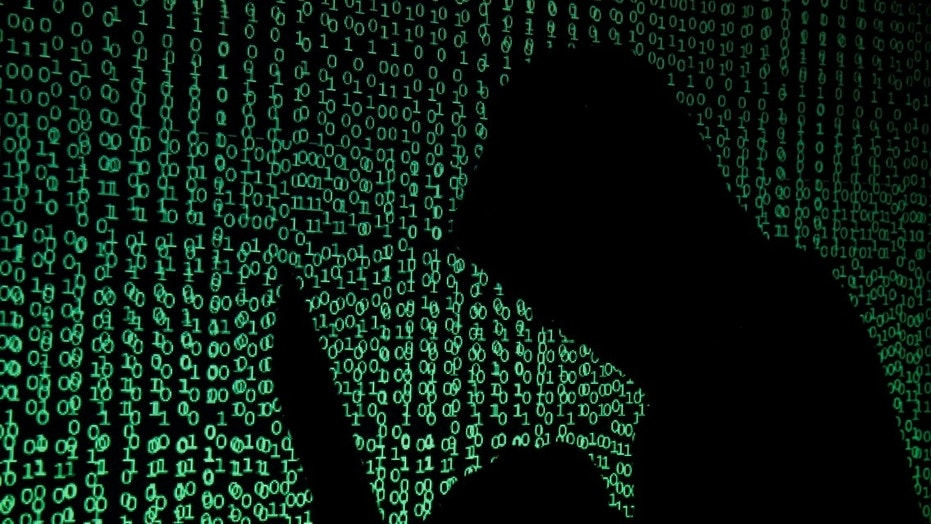 Illustration picture - A hooded man holds a laptop computer as cyber code is projected on him in this illustration picture taken on May 13, 2017. (REUTERS/Kacper Pempel/Illustration)