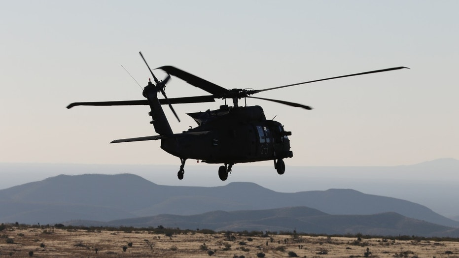 UH-60 Blackhawk helicopter crews from 3rd Battalion, 501st Aviation Regiment, Combat Aviation Brigade, 1st Armored Division completed aerial gunnery at Fort Bliss, Texas, December 12, 2017, maintaining their combat readiness and M240 machine gun skills. (U.S. Army photos by Capt. Tyson Friar, 1st Armored Division Combat Aviation Brigade Public Affairs)