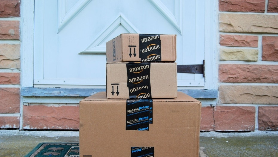 File photo: Hagerstown, MD, USA - June 2, 2014: Image of an Amazon packages. (Credit: jahcottontail143, iStock)