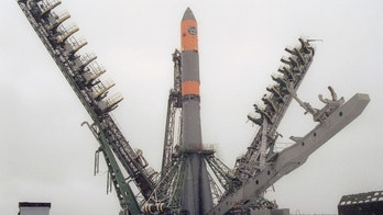 Arkhangelsk region, russia, april 2, 2003, molniya-m booster rocket pictured at a launching pad of the plesetsk cosmodrome shortly to its firing, russian space troops successfully launched the booster rocket with a military satellite early on wednesday. (Photo by: Sovfoto/UIG via Getty Images)