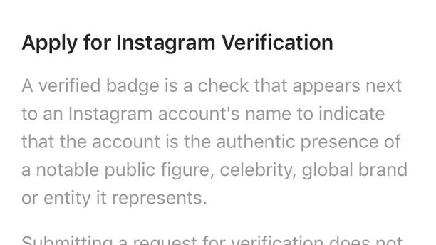 instagram how to get verified