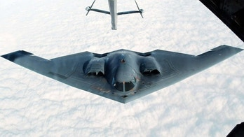 Oct. 30, 2002: The B-2 Spirit stealth bomber approaches an U.S. Air Force KC-10(A) tanker plane over the Missouri sky to receive an aerial refueling after taking off from the Whiteman Air Force Base in Johnson County, Missouri. (Reuters)