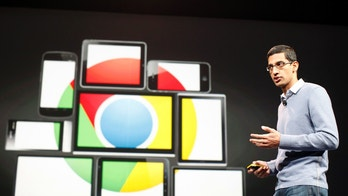 Sundar Pichai, senior vice president of Google Chrome, speaks during Google I/O Conference at Moscone Center in San Francisco, California June 28, 2012. REUTERS/Stephen Lam (UNITED STATES - Tags: BUSINESS SCIENCE TECHNOLOGY) - GM1E86T0DNQ01