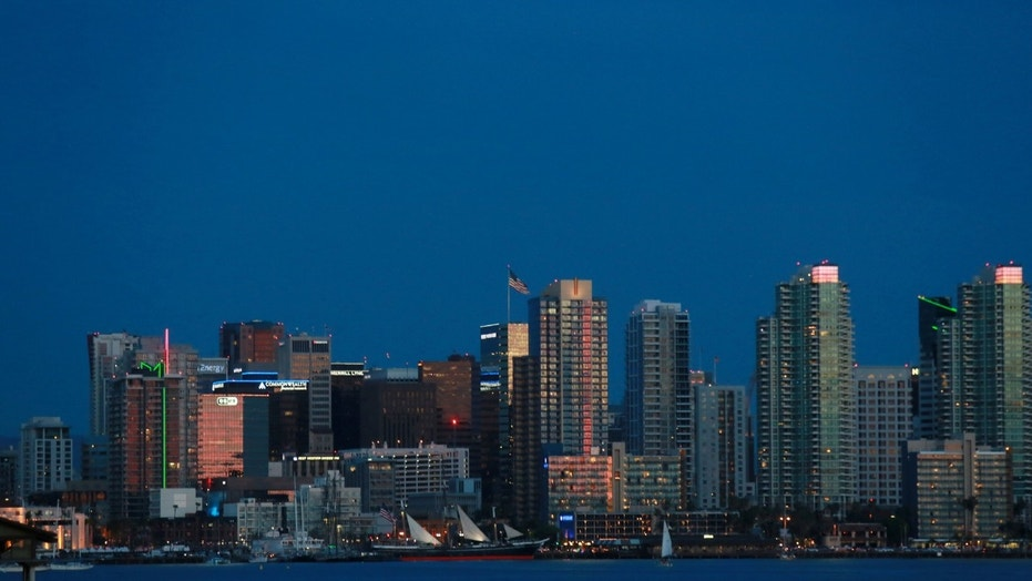 File photo - view of the Downtown Skyline of San Diego, California on Sunday, March 15, 2015.