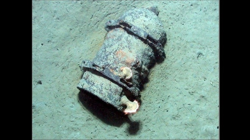 a 500-pound bomb in the Gulf of Mexico, just one of millions of bits of unexploded munitions in waters off the coast of the U.S.