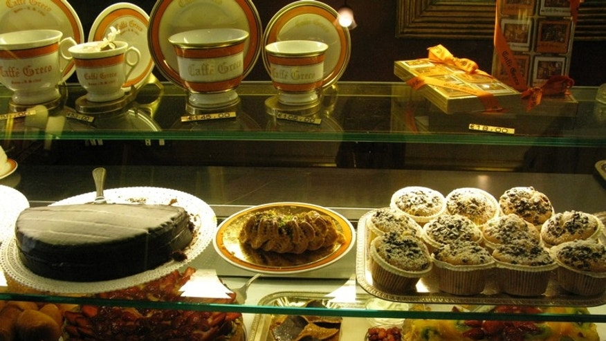 The Pastry Counter at Caffe Greco