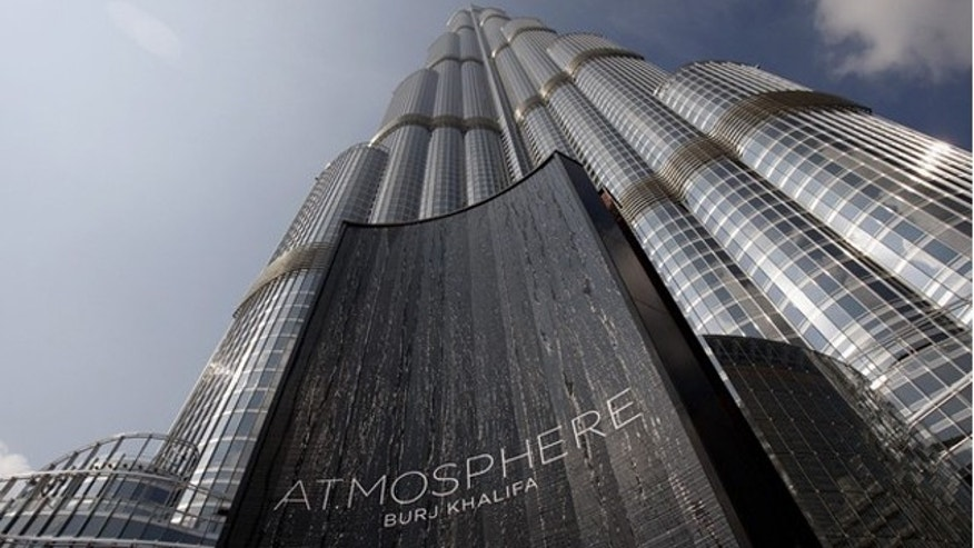 Jan. 23, 2011: The tallest tower in the world is seen during the opening of At.Mosphere, the world's highest restaurant in the Burj Khalifa in Dubai.