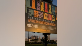 This Sept. 10, 2011 photo shows a sign at the future site of the National Museum of African American Music in a historically black neighborhood north of downtown Nashville, Tenn. The museum will explain how African Americans have influenced every genre of American music. The museum is expected to cost $47.5 million and open sometime in 2013. (AP Photo/Erik Schelzig)