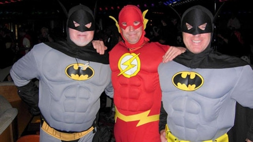 Holy doubles Batman!!   Here with Flash! (John - Blades, Sly Shy Rob and ???)