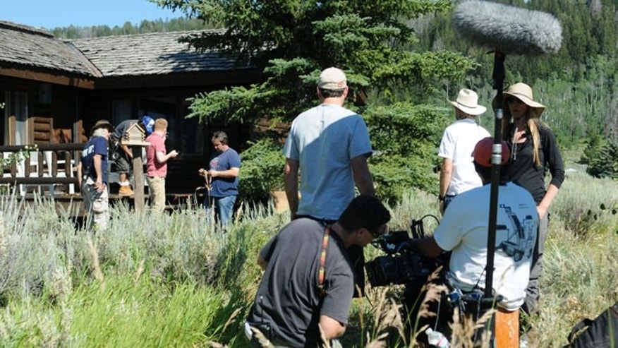 Behind the scenes of the filming of Modern Family in Jackson Hole, Wyoming