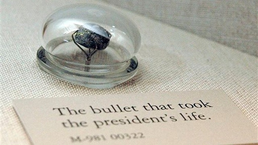The bullet that killed President Abraham Lincoln on April 15, 1865, and is among the items on display at the National Museum of Health and Medicine in Silver Spring, Md. (AP Photo/National Museum of Health and Medicine)