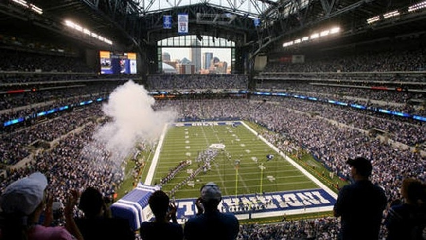 Super Bowl XLVI at Lucas Oil Stadium in Indianapolis, IN