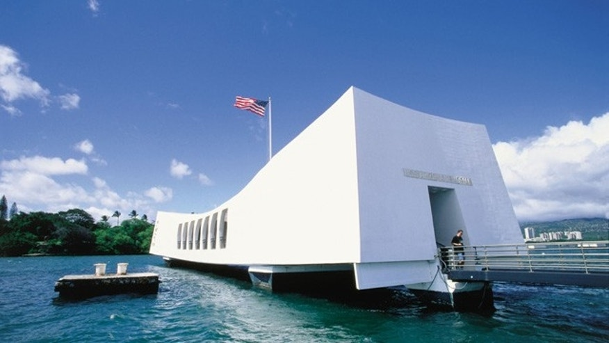 The USS Arizona Memorial in Oahu.