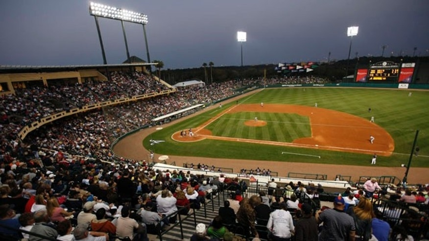 Check out a night game during spring training.