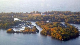 Toronto Islands, seen from CN Tower, is North America's largest car-free community.