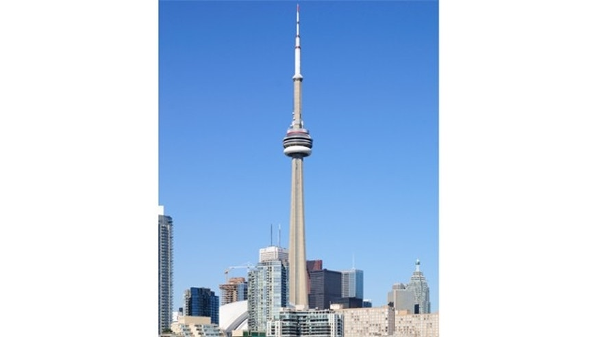 The CN Tower, at 1,465 feet, offers a panoramic view for 100 miles.