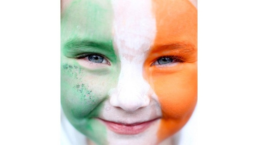 March 2011: An girl with her face painted with the Irish flag is pictured during St Patricks Day festivities in Dublin, Ireland.