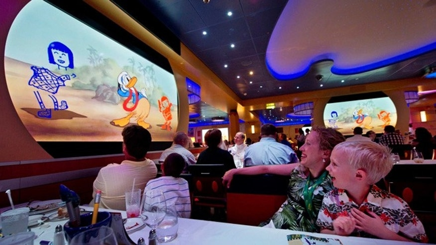 Animator's Palate aboard the new Disney cruise ship Fantasy.