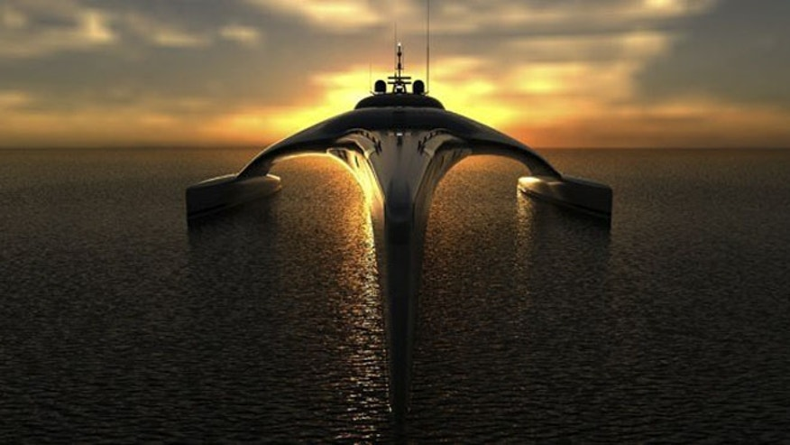 The engineering masterpiece, the Adastra yacht, looks more like a spacecraft than an actual vehicle.