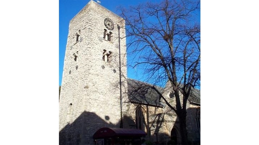 The Saxon Tower at the city church of St. Michael.