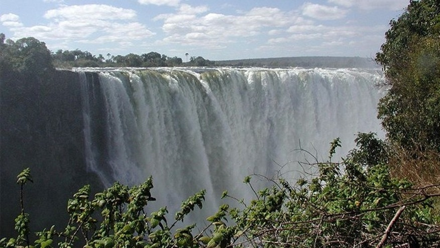 Victoria Falls in Zimbabwe is the world's largest sheet of falling water.
